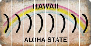 Hawaii RIGHT PARENTHESIS Cut License Plate Strips (Set of 8) LPS-HI1-048