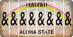 Hawaii AMPERSAND Cut License Plate Strips (Set of 8) LPS-HI1-049