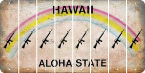Hawaii M16 RIFLE Cut License Plate Strips (Set of 8) LPS-HI1-052