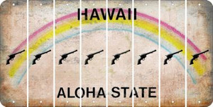 Hawaii PISTOL Cut License Plate Strips (Set of 8) LPS-HI1-053