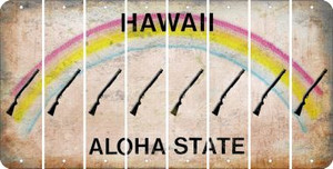 Hawaii SHOTGUN Cut License Plate Strips (Set of 8) LPS-HI1-054