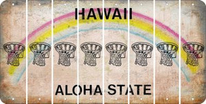 Hawaii BASKETBALL HOOP Cut License Plate Strips (Set of 8) LPS-HI1-058