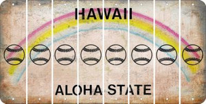Hawaii BASEBALL / SOFTBALL Cut License Plate Strips (Set of 8) LPS-HI1-063
