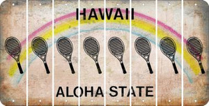 Hawaii TENNIS Cut License Plate Strips (Set of 8) LPS-HI1-064