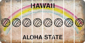 Hawaii VOLLEYBALL Cut License Plate Strips (Set of 8) LPS-HI1-065