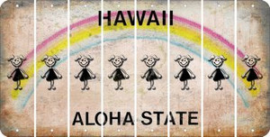 Hawaii TEEN GIRL Cut License Plate Strips (Set of 8) LPS-HI1-069