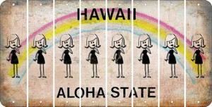 Hawaii MOM Cut License Plate Strips (Set of 8) LPS-HI1-070