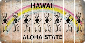 Hawaii DAD Cut License Plate Strips (Set of 8) LPS-HI1-071