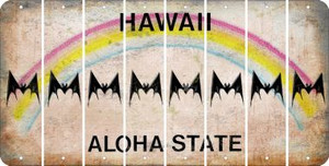 Hawaii BAT Cut License Plate Strips (Set of 8) LPS-HI1-074