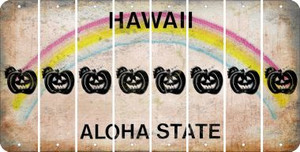 Hawaii PUMPKIN Cut License Plate Strips (Set of 8) LPS-HI1-075