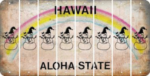Hawaii SNOWMAN Cut License Plate Strips (Set of 8) LPS-HI1-079