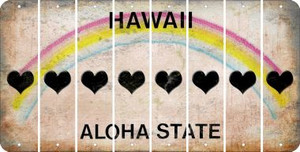 Hawaii HEART Cut License Plate Strips (Set of 8) LPS-HI1-081