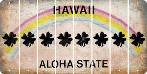 Hawaii SHAMROCK Cut License Plate Strips (Set of 8) LPS-HI1-082