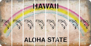 Hawaii FISH Cut License Plate Strips (Set of 8) LPS-HI1-086