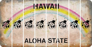 Hawaii LADYBUG Cut License Plate Strips (Set of 8) LPS-HI1-087