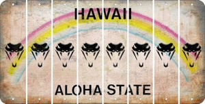Hawaii SNAKE Cut License Plate Strips (Set of 8) LPS-HI1-088