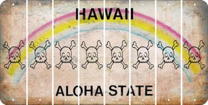 Hawaii SKULL Cut License Plate Strips (Set of 8) LPS-HI1-092