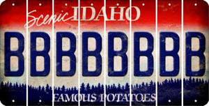 Idaho B Cut License Plate Strips (Set of 8)