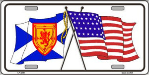 United States Scotland Crossed Flags Wholesale Metal Novelty License Plate Sign LP-4290