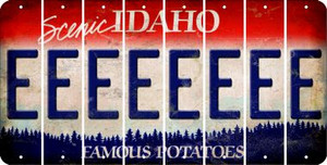 Idaho E Cut License Plate Strips (Set of 8) LPS-ID1-005