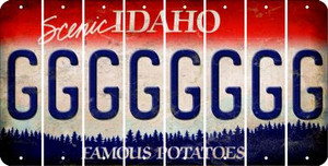 Idaho G Cut License Plate Strips (Set of 8) LPS-ID1-007