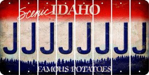 Idaho J Cut License Plate Strips (Set of 8) LPS-ID1-010