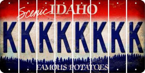 Idaho K Cut License Plate Strips (Set of 8) LPS-ID1-011