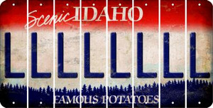 Idaho L Cut License Plate Strips (Set of 8) LPS-ID1-012