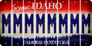 Idaho M Cut License Plate Strips (Set of 8) LPS-ID1-013