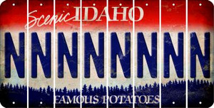 Idaho N Cut License Plate Strips (Set of 8) LPS-ID1-014