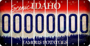 Idaho O Cut License Plate Strips (Set of 8) LPS-ID1-015