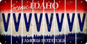 Idaho V Cut License Plate Strips (Set of 8) LPS-ID1-022