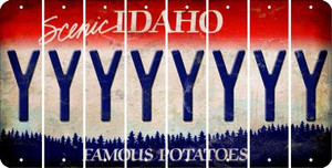 Idaho Y Cut License Plate Strips (Set of 8) LPS-ID1-025
