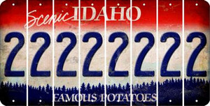 Idaho 2 Cut License Plate Strips (Set of 8) LPS-ID1-029