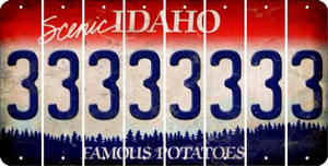 Idaho 3 Cut License Plate Strips (Set of 8) LPS-ID1-030