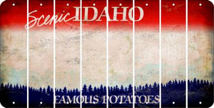 Idaho BLANK Cut License Plate Strips (Set of 8) LPS-ID1-037