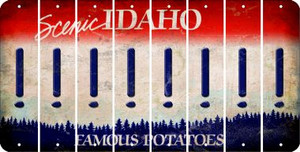 Idaho EXCLAMATION POINT Cut License Plate Strips (Set of 8) LPS-ID1-041