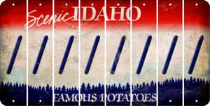 Idaho FORWARD SLASH Cut License Plate Strips (Set of 8) LPS-ID1-042