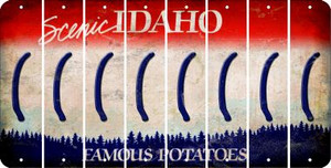 Idaho LEFT PARENTHESIS Cut License Plate Strips (Set of 8) LPS-ID1-045