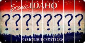Idaho QUESTION MARK Cut License Plate Strips (Set of 8) LPS-ID1-047