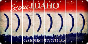 Idaho RIGHT PARENTHESIS Cut License Plate Strips (Set of 8) LPS-ID1-048