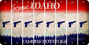 Idaho HANDGUN Cut License Plate Strips (Set of 8) LPS-ID1-051