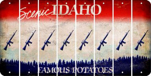 Idaho M16 RIFLE Cut License Plate Strips (Set of 8) LPS-ID1-052