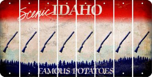 Idaho SHOTGUN Cut License Plate Strips (Set of 8) LPS-ID1-054