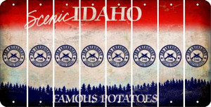 Idaho 2ND AMENDMENT Cut License Plate Strips (Set of 8) LPS-ID1-056