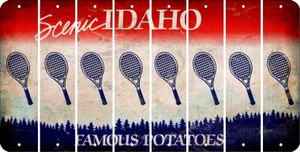 Idaho TENNIS Cut License Plate Strips (Set of 8) LPS-ID1-064