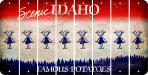Idaho TEEN GIRL Cut License Plate Strips (Set of 8) LPS-ID1-069