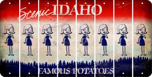 Idaho MOM Cut License Plate Strips (Set of 8) LPS-ID1-070