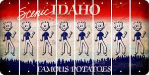 Idaho DAD Cut License Plate Strips (Set of 8) LPS-ID1-071