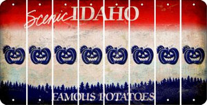 Idaho PUMPKIN Cut License Plate Strips (Set of 8) LPS-ID1-075
